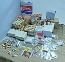 Dollhouse Miniature Furniture Lot Bedroom Set Drawers Table Chairs Grill Shingle