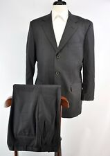 Brooks Brothers 1818 Madison Charcoal Gray Wool Suit Made in USA 40R 34W 30L