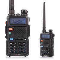 US Plug Baofeng UV-5R V2+ Dual-Band 136-174/400-520 MHz FM Ham Two-way Radio