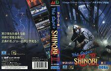 Super Shinobi 2 II MD Mega Drive JP NTSC-J Replacement Box Art Case Insert Cover