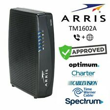 Arris TM1602A DOCSIS 3.0 Telephony Cable Modem Optimum WOW Cablevision Charter