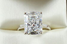 2.75CT Radiant Brilliant Cut  VVS1 Engagement Wedding Solitaire Ring 14K W Gold