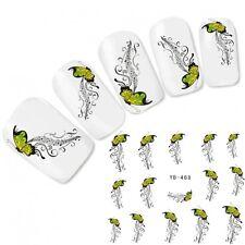 Nagel Sticker Nail Art Ornamente Schmetterling Fuß Aufkleber Water Decal