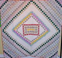 sale in r store now ANTIQUE SUNSHINE AND SHADOW CENTER SQUARE ANTIQUE QUILT