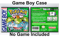 Pokemon (Green Version, English Translation) - Game Boy GB Custom Case *NO GAME*