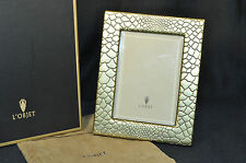"L'OBJET  Python Gold Plated Picture Photo Frame 5"" x 7"" F4501M NIB"