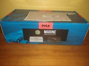 Pyle PLMRMP3B 800 Watt 4-Channel Waterproof Micro Marine Amplifier Amp Stereo
