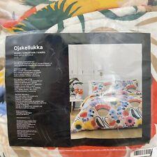 Marimekko Ojakellukka Full/ Queen Size Floral Comforter And 2 Pillow Shams