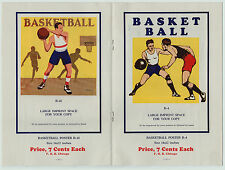 RARE  Original Catalog - Basketball Posters 1927 - Rocco D Navigato Color Art