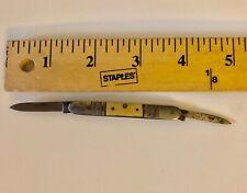 VINTAGE ANTIQUE UNMARKED FOLDING POCKET  PEN KNIFE 2 BLADES