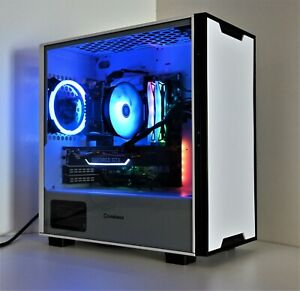 White Gaming PC 10th Gen 6-core CPU 1TB M.2 SSD 16GB DDR4 GTX 1660 Super Win10