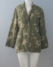 St Michael from MARKS & SPENCER Size 8 Green Floral Blazer (Made in Canada)