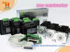 EU free ship!Wantai 3Axis Nema23 Motor dual shaft 4.2A 425oz-in&Driver CNC Kit