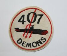 PATCH - RCAF Patch Sqn Royal Canadian Air   Force 407 Squadron Demons PATCH