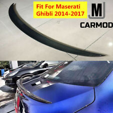 Fit For Maserati Ghibli 2014-2017 Real Carbon Fiber Trunk Lip Spoiler WALD STYLE