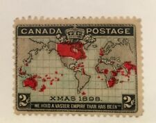 Canada 85 Christmas 1898 Empire Map-Mint NH