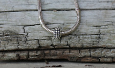 Sterling Silver Bali Style Bead with 20cm Silver Plated Snake Chain New Jewelry