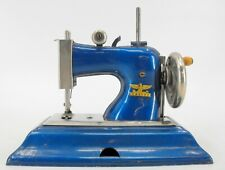 Vintage Hand Crank Child'S Toy Sewing Machine - Casige - Germany - Blue
