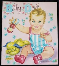 Baby Doll Uncut Paper Doll Book James & Jonathan Bonnie Books Craft Series 1957