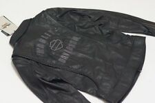 "HARLEY-DAVIDSON GENUINE EMBELISHED ""BLING"" LEATHER JACKET, SZ SMALL NEW WITH TAG"