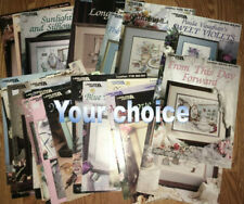 Paula Vaughan counted cross stitch charts-Your Choice-floral,quilt, bride, more