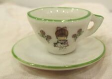 Vintage 1977 Joan Walsh Anglund Miniature Tea Cup, Saucer & Platter + Broken Pcs