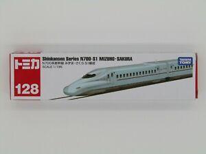Tomica No.128 Shinkansen Series N700-S1 MIZUHO・SAKURA Japanese Train From JAPAN
