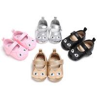 Infant Newborn Baby Girl Soft Crib Shoes Leather Prewalker Anti-slip Sneakers UK