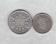 TWO PROOF COINS 1953 ENGLISH SHILLING & FLORIN IN NEAR MINT CONDITION