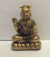 Statuette amulette en bronze doré figurine BOUDDHA DIVINITE Chine b121