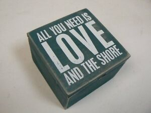 Primitives by Kathy All You Need Is Love and The Shore Beach Wooden Box P30850