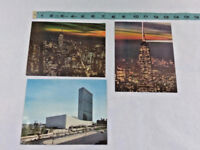 Vtg Lot of 3 New York Skyline at Night - Empire State Building - USA