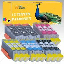15x INCHIOSTRO CARTUCCE CON CHIP PER CANON PIXMA IP-Serie ip7250/ip8750 DS-Ink