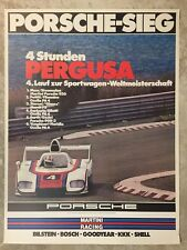 1976 Porsche 936 Spyder 4 Hrs Pergusa Victory Showroom Advertising Poster RARE!!