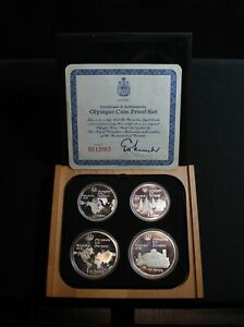 1976 Canadian Montreal Olympic Games 4 coin set (Series 1) with COA - Silver