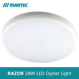 Martec Razor 28W Dimmable LED Oyster Light - Round