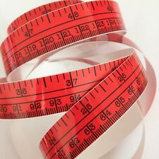 "60"" Red Self Adhesive Vinyl Measuring Tape / Ruler Sticker Stickymeasure"