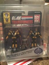 2015 GI JOE TRANSFORMERS COLLECTORS CLUB EX OLD SNAKE STEALTH B.A.T. DUO AFA 85!