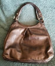 Coach Black Leather MAGGIE w/ Silver Hardware #13897 Shoulder Bag Handbag Purse