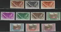 French Polynesia - 1941 - Scott # 126 thru 135 - Complete Set - Mint OG - Signed