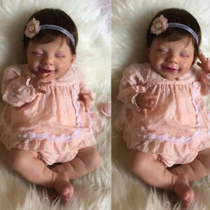 """21""""/52cm Reborn Baby Doll April Smile Baby Handmade Real Soft Touch Baby Dolls"""