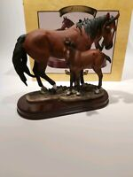 "Vintage Leonardo Collection ""Horses"" Figurine, Boxed Appr. 19x20cm"