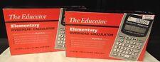 2 New In Box The Educator Elementary Overhead Calculators #202 Rh560x