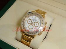 Rolex Cosmograph Daytona Yellow Gold 40mm White Dial Oyster Automatic 116528