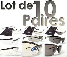 10 paires de Lunettes CONTOUR Métal Bollé Safety Incolore fumé ESP lot police