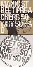 MUSIC: MANIC STREET PREACHERS SIGNED CD SLEEVE 'SO WHY SO SAD'+COA