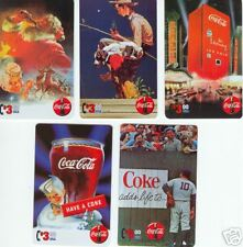 Coca-Cola Special Coke Series phonecards by Collect-a-Card set of 5