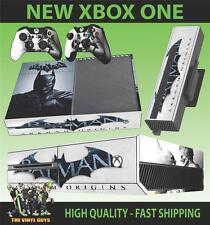 XBOX ONE CONSOLE STICKER BATMAN ARKHAM ORIGINS SKIN & 2 PAD SKINS