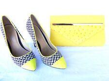 Ladies Shoes 'Ko Fashion' Yellow black, Size 8 (39) - PL358