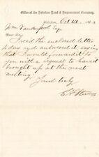 E.A. Stevens signed A.L.S.